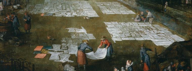 brueghel mercado y lavadero en flandes fragmento